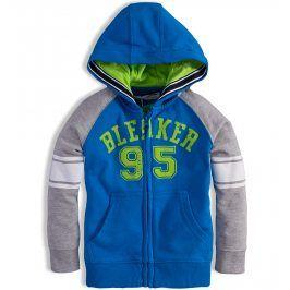 Mikina s kapucí pro kluky MINOTI GREEN modrá Velikost: 104-110
