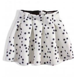 Dívčí sukně MINOTI PERFECT bílá s puntíky Velikost: 92