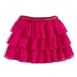 Kojenecká krajková sukně MINOTI RAINFOREST růžová Velikost: 80