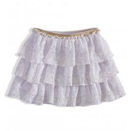 Dívčí krajková sukně MINOTI RAINFOREST bílá Velikost: 92