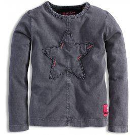 Dívčí triko s dlouhým rukávem DIRKJE EVERY MOMENT hvězdy šedé Velikost: 92