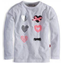 Kojenecké triko pro holčičky DIRKJE CELEBRATE krémové Velikost: 86
