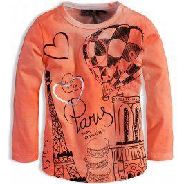 Kojenecké dívčí triko DIRKJE MON AMOUR PARIS oranžové Velikost: 62