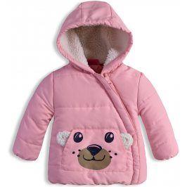 Kojenecká zimní bunda KNOT SO BAD MEDVÍDEK růžová Velikost: 62