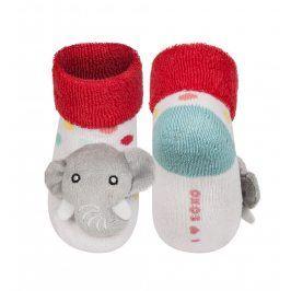 SOXO Ponožky s chrastítkem  SLON Velikost: 16-18