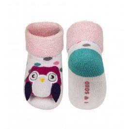 SOXO Ponožky s chrastítkem  SOVA Velikost: 16-18
