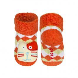 Ponožky s chrastítkem SOXO KOČKA oranžová Velikost: 16-18