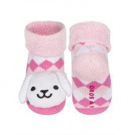 Ponožky s chrastítkem SOXO KRÁLÍČEK Velikost: 16-18