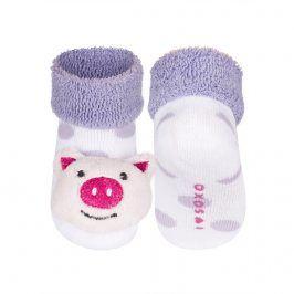 Ponožky s chrastítkem SOXO PRASÁTKO Velikost: 16-18