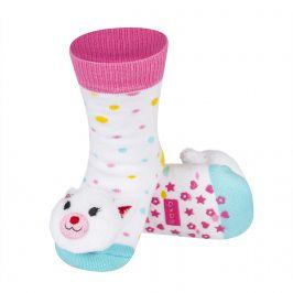 Ponožky s chrastítkem SOXO KOČIČKA Velikost: 19-21