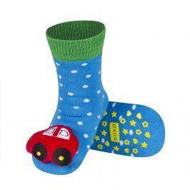Ponožky s chrastítkem SOXO AUTO červené Velikost: 19-21