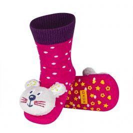 Ponožky s chrastítkem SOXO MYŠKA Velikost: 19-21