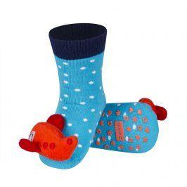 Ponožky s chrastítkem SOXO LETADLO oranžové Velikost: 19-21