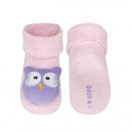 Ponožky s chrastítkem SOXO SOVIČKA Velikost: 16-18