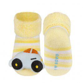 Ponožky s chrastítkem SOXO AUTÍČKO Velikost: 16-18