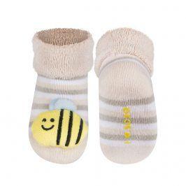 Ponožky s chrastítkem SOXO VČELKA Velikost: 16-18