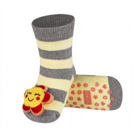 Ponožky s chrastítkem SOXO KYTIČKA Velikost: 19-21