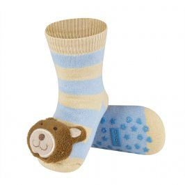 Ponožky s chrastítkem SOXO MEDVĚD Velikost: 19-21