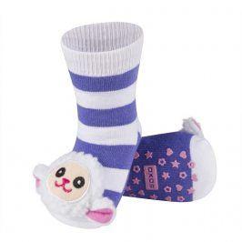 Ponožky s chrastítkem SOXO OVEČKA fialové Velikost: 19-21