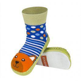 SOXO Chlapecké ponožky s podrážkou Medvěd barevné Velikost: 19-21