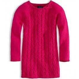Dívčí pletené šaty MINOTI HELLO růžové Velikost: 98-104