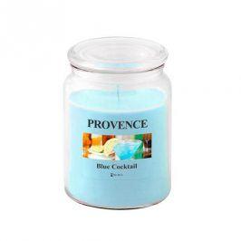 Provence SVÍČKA VE SKLE S VÍČKEM 510G, BLUE COCKTAIL