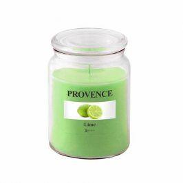 Provence SVÍČKA VE SKLE S VÍČKEM 510G, LIMETKA