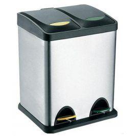 TORO Koš na odpadky nerez, na tříděný odpad, objem 16 l, 40 x 26,5 cm