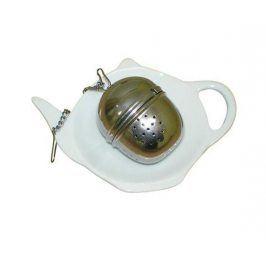 TORO Čajový set 2 ks, čajítko průměr 4, 1 cm, talířek 8, 7 x 11, 3 cm