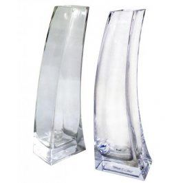TORO váza skleněná čirá 6 x 10x 30 cm