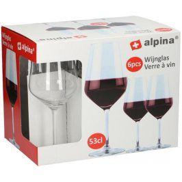 Alpina SKLENICE NA ČERVENÉ VÍNO ALPINA 530ML 6KS
