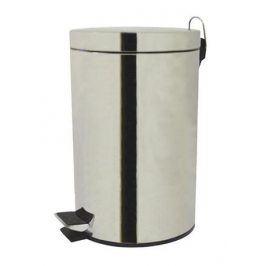 TORO Koš na odpadky pedálová, lesklý povrch, objem 3 l, 17 x 24,3 cm