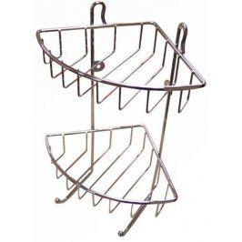 TORO polička rohová dvoupatrová 30 x 22,5 x 16,8 cm