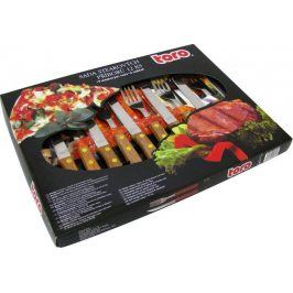 TORO Sada steakových příborů pro 6 osob, 20 x 2, 3 cm a 21 x 1, 5 cm