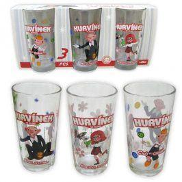 CERVE sklenice s motivem Hurvínek set 3 ks 6,5 x 12 cm