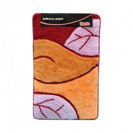 TORO 263216/014 koupelnová předložka, motiv list, oranž, 50x80cm