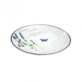 TORO talíř jídelní,keramika-p,motiv levandule,27x2,5cm