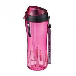 LOCK&LOCK Sportovní láhev 550 ml se silikonovým brčkem - růžová