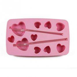 TORO Forma silikon na led s brčkem, srdce, růžová