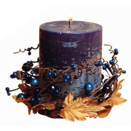 TORO Svíčka dárková s dekorací a vůní borůvky, 6, 9 x 9 cm