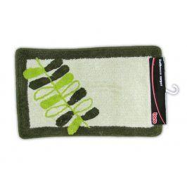 TORO 263216/001 Koupelnová předložka zelená s listy, 50 x 80 cm