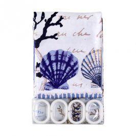 TORO Sprchový závěs textilní se vzorem 180x180 cm