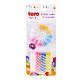 TORO Svíčky dortové 24 ks, 6 cm