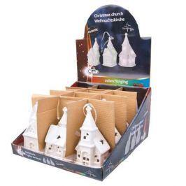 Christmas gifts Vánoční kostel, LED světlo, 5,2x5,2x12cm