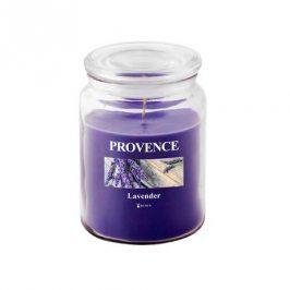 Provence SVÍČKA VE SKLE S VÍČKEM 510G, LEVANDULE