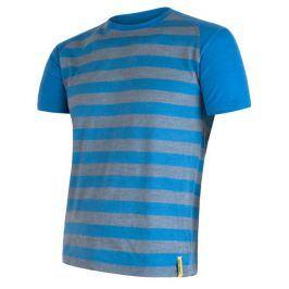 Pánské funkční triko Sensor Merino Wool Active kr.r. Velikost: S / Barva: modrá pruhy