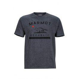 Pánské triko Marmot Marmot Republic Tee SS Velikost: XL / Barva: šedá