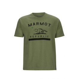 Pánské triko Marmot Marmot Republic Tee SS Velikost: S / Barva: zelená