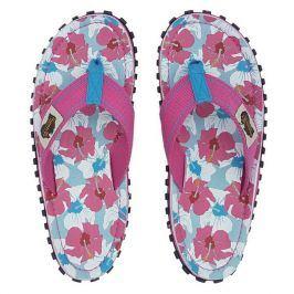 Dámské žabky Gumbies Islander Mixed Hibiscus Velikost bot (EU): 41 / Barva: růžová
