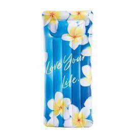 Nafukovací lehátko Intex Inspirational 58772EU Barva: modrá/žlutá (květy)